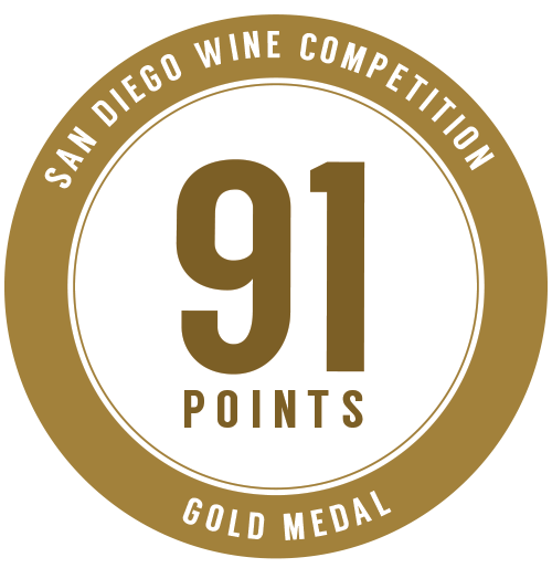 91 points, San Diego Wine Competition