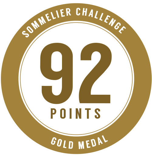 90 points, Gold Medal - Sommelier Challenge