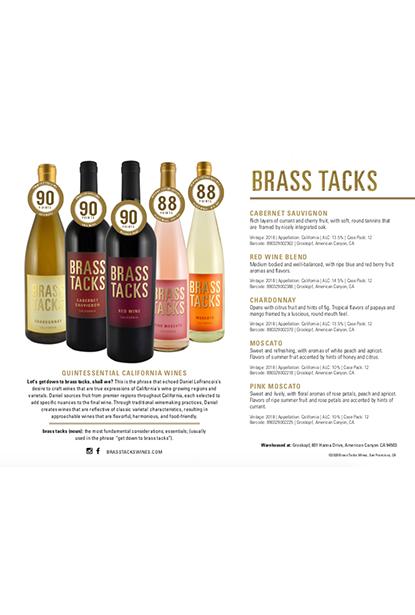 Brass Tacks Family Sales Sheet