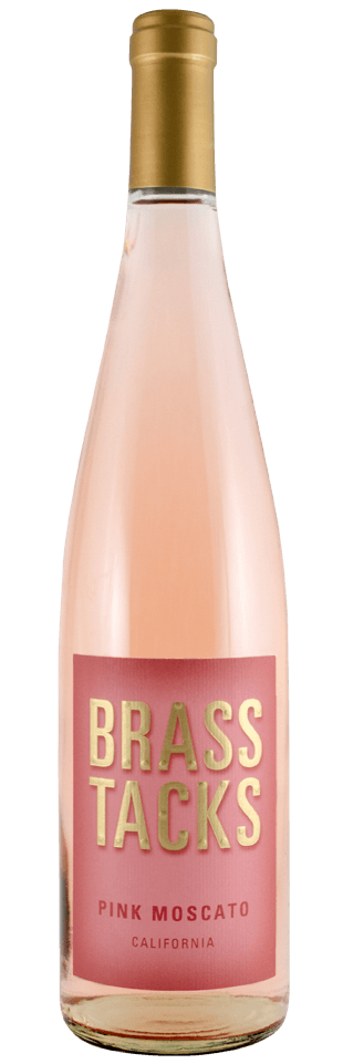 Brass Tacks California Pink Moscato Wine